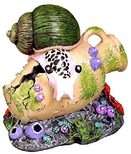 Azul cinta mascota productos exóticos entornos caracol y Grecian urna adorno de acuario: Amazon.es: Productos para mascotas
