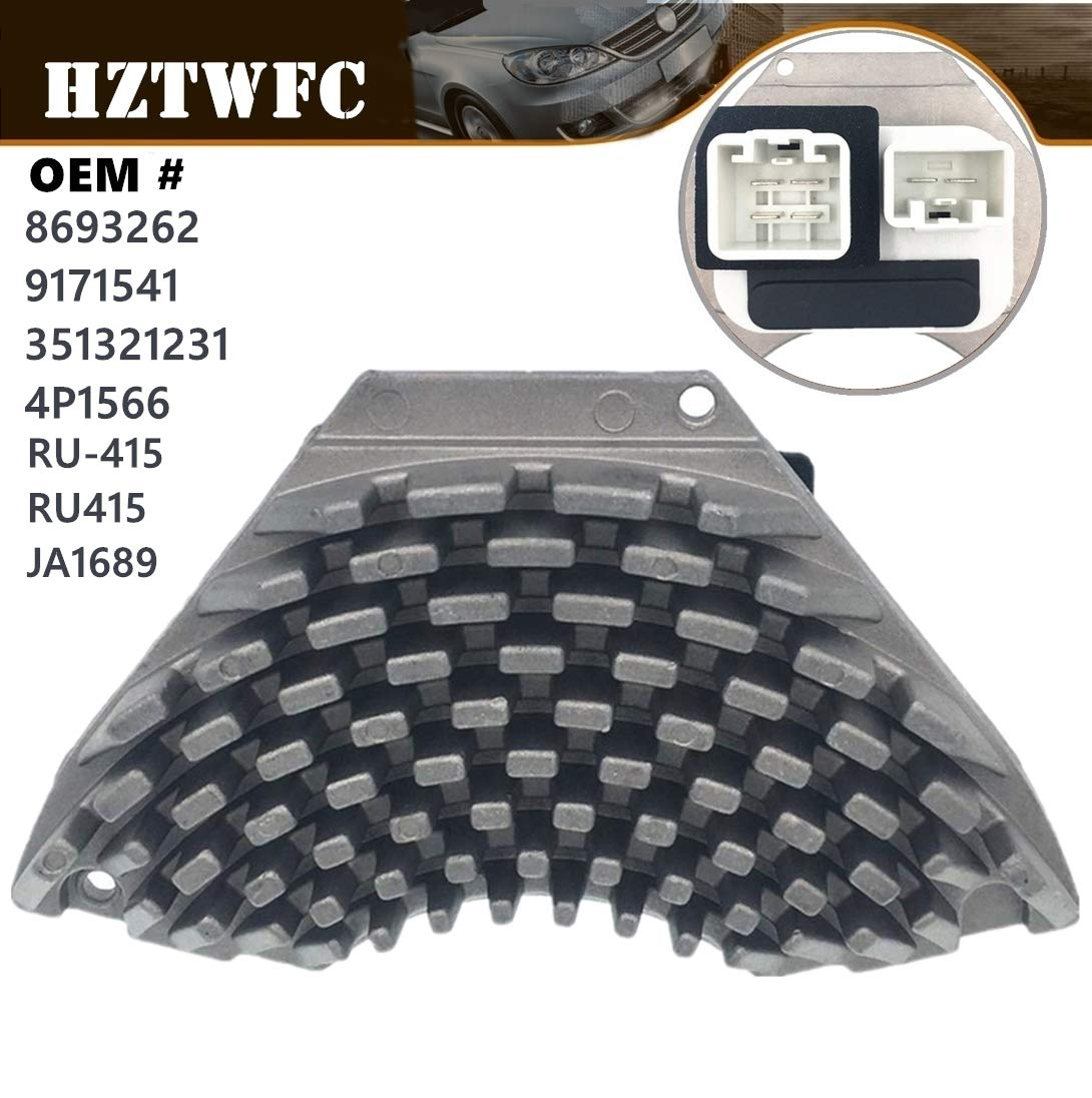 HZTWFC HEATER BLOWER MOTOR FAN RESISTOR 8693262 9171541 Compatible for  VOLVO S60 S70 S80 V70 XC70 XC90
