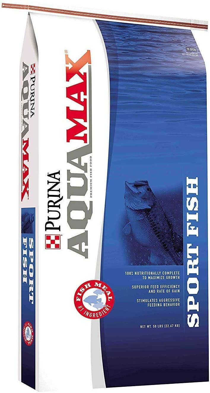 Aquamax Sportfish MVP Game Fish Feed 50 lb, 43% Protein, Diet for Bass, Bluegill, Trout (50 lb)