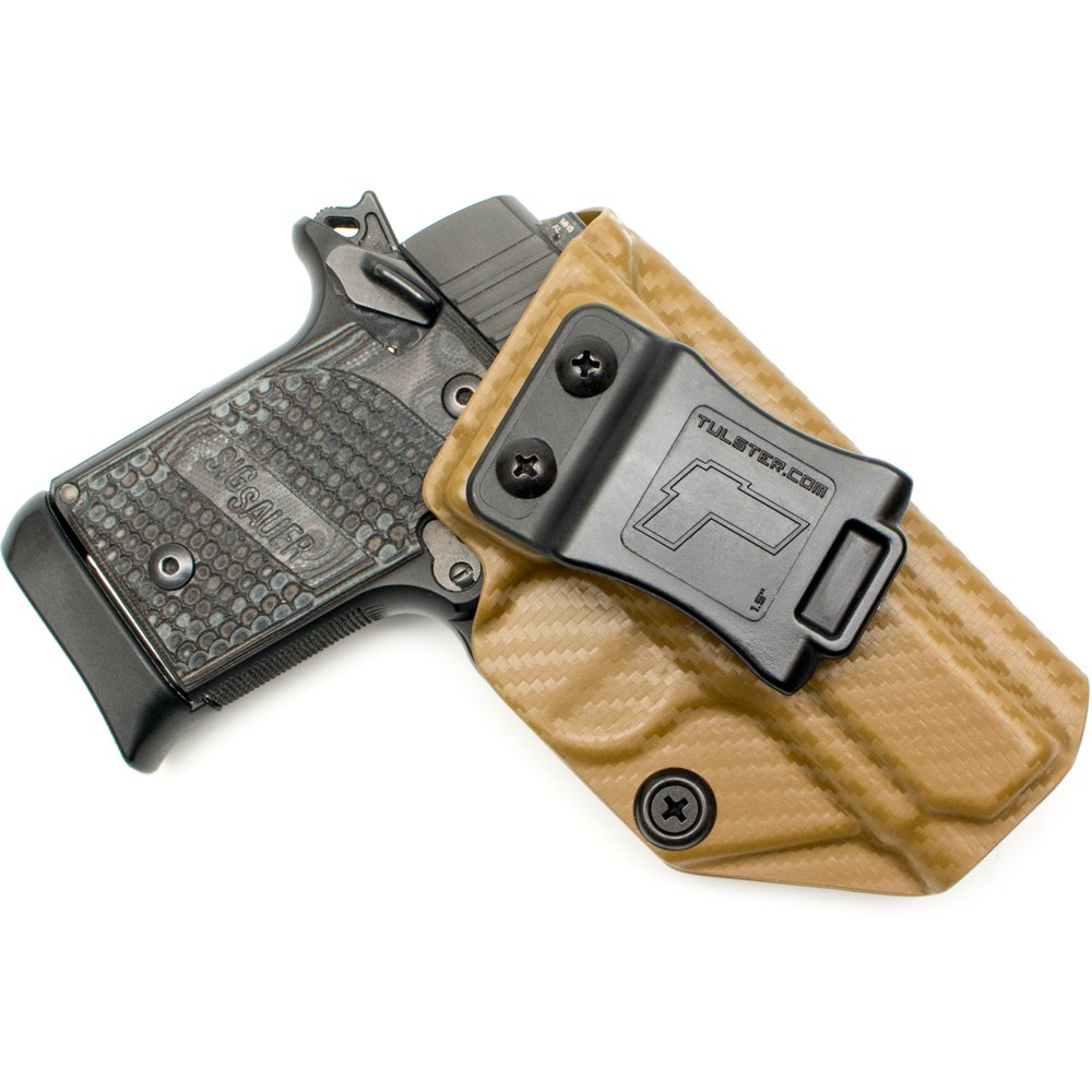 Tulster Sig P938 Holster IWB Profile Holster (Coyote Brown Carbon Fiber - Right Hand)