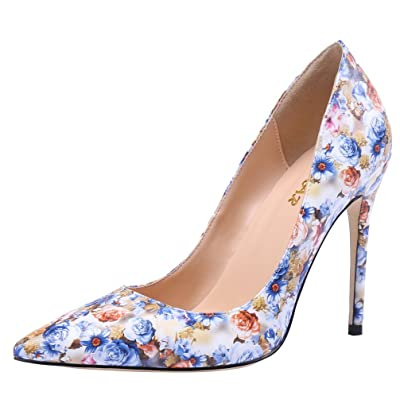 AOOAR Women's Glitter Heeled Dress Pumps Shoes | Pumps
