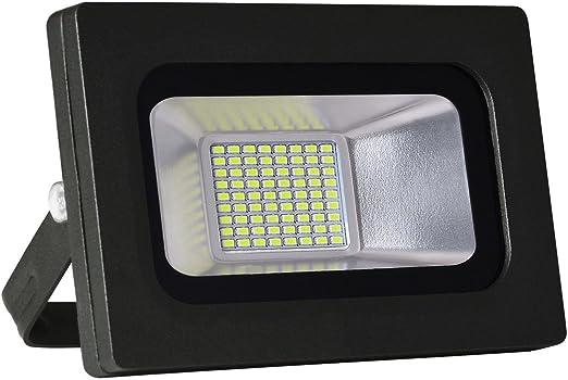 Solla® Foco proyector LED 15W para exteriores, Blanco Cálido 3200K ...