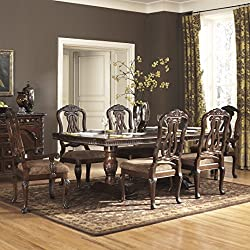 Ashley North Shore 7 Piece Wooden Dining Table Set (D553)