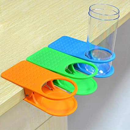 Incredible 4Packs Drink Cup Holder Clip Table Desk Side Water Glass Alphanode Cool Chair Designs And Ideas Alphanodeonline