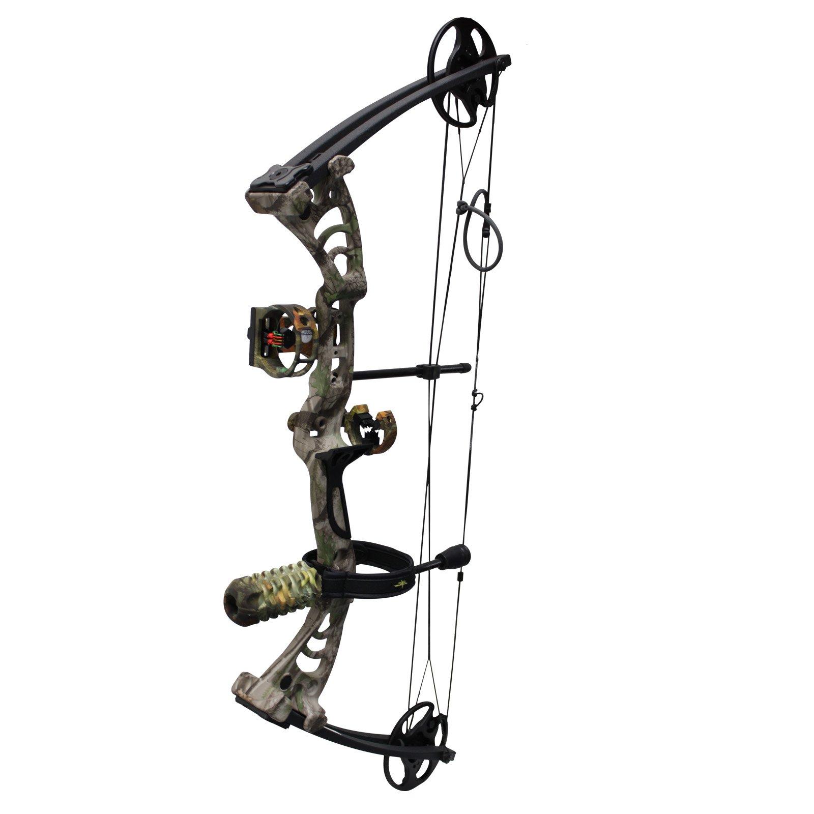 Southland Archery Supply SAS Scorpii 55 Lb 29'' Compound Bow (GC Camo w/Camo Accessories Kit)