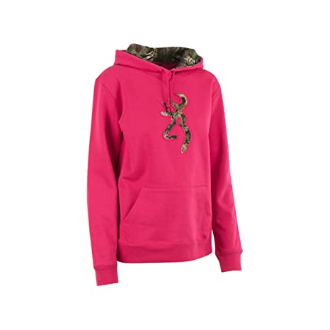 f5bf2e56c Amazon.com: Women's Browning Camo Buckmark Hooded Sweatshirt ...