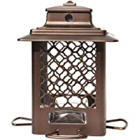 Stokes Select Metal Hopper Bird Feeder with 4 Feeding Ports