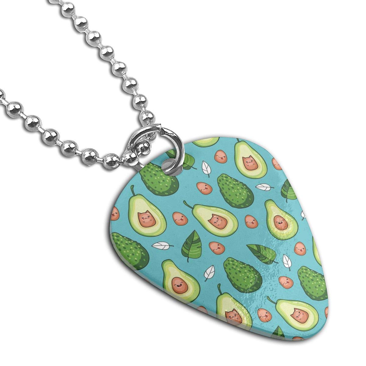 Avocado Fruit Kawaii Custom Guitar Pick Pendant Necklace Keychain