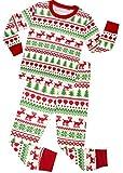 Christmas Girls Boys Pajamas Gift Cotton Kids Pjs Toddler Sleepwear Pants Set Size 8 Years