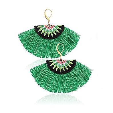 Amazon Com Idealway Ethnic Hand Embroidery Tassels Drop Dangle