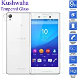 Kushwaha Front and Back Tempered Glass Screen Protector HD Quality For Sony Xperia M4 Aqua Dual