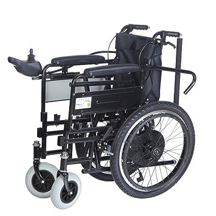 Inteligente Manual Eléctrico Uso dual Silla de ruedas Espalda alta 180 ° Completamente acostado con aseo