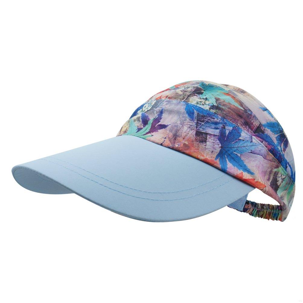 GADIEMENSS Women's Visor Big Brim Quick Dry Open Top Hat UPF 50+ Sun Visor for Women