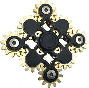 COOLCT Hand Spinner Fidget Toy Novelty Nine Linkage Gear Spinner Fidget Toy Anxiety Relief Toy Gifts
