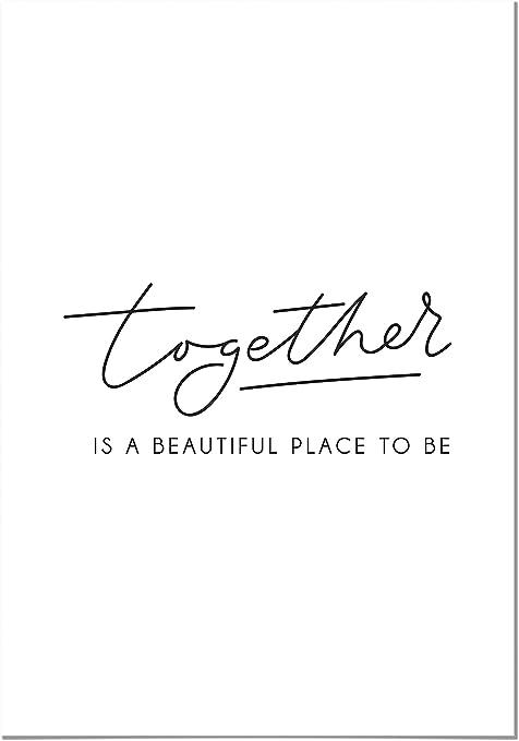 Panorama Poster Stampe Da Parete Together 30x21cm Stampato Su