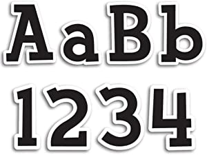 Creative Teaching Press 4-Inch Designer Letters, Fancy Black (Decorate Party Signs, Hallways, Doors, Rooms, Offices, Learning Spaces and More)