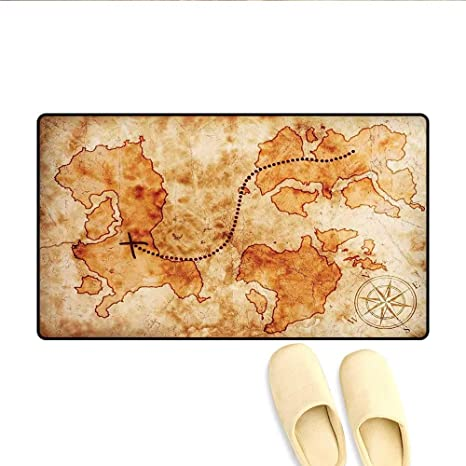 Amazon.com: Bath Mat Authentic Distressed Grunge World Map ... on authentic treasure chests, bahamas 1500s maps, decorating with maps, authentic games, authentic diamonds, civil war camp location maps, printable pirate maps,