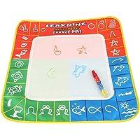 4 Colores Doodle Mat para niños Agua Aqua Estera de Dibujo y Magic Pen Doodle Reutilizables para niños Juguetes educativos Regalo 49 x 49 Ih