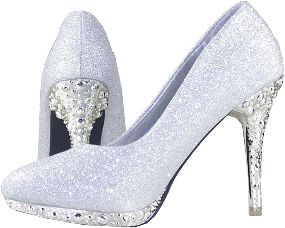 getmorebeauty Women's Silver Glitter