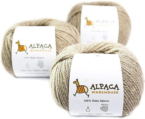 Baby Alpaca Yarn Super Soft 50 gr skein Chunky yarn Ginger