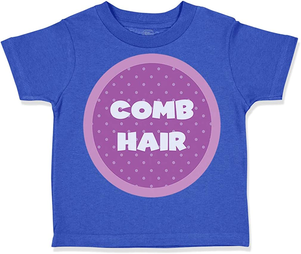 Custom Toddler T-Shirt Comb Hair Cotton Boy /& Girl Clothes Funny Graphic Tee