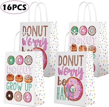 Amazon.com: Donut bolsas de regalo para fiesta de donas ...