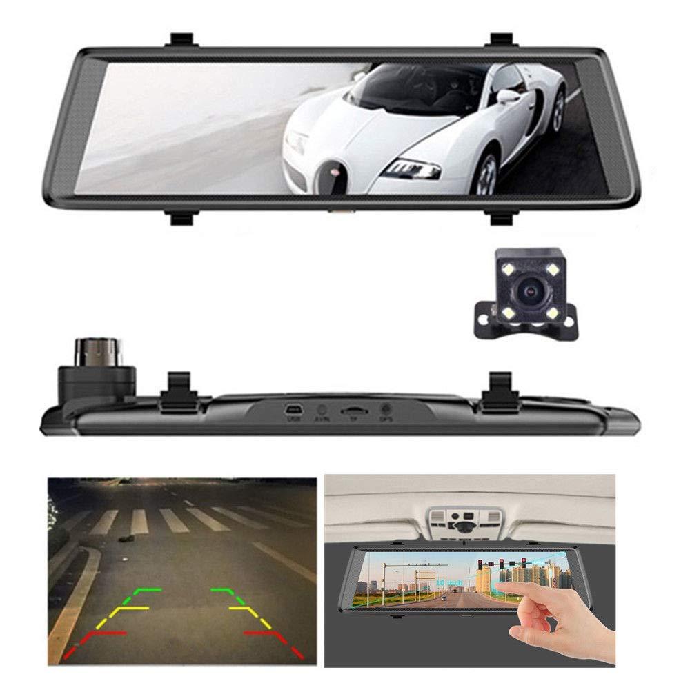 日本限定 FidgetGear 10 inch 1080P Dual Lens Camera Touch Touch Car Vision DVR Recorder Dash Cam Rear Camera Night Vision B07QB329RC, 高柳町:47fb4592 --- agiven.com