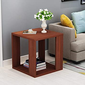 Générique LF Assemblage En Bois Moderne Simple Chambre à Coucher Mini Table  Salon Table De Chevet