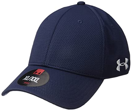 Amazon.com  Under Armour Men s Curved Brim Stretch Fit Cap  Sports ... 8ae28ecca48