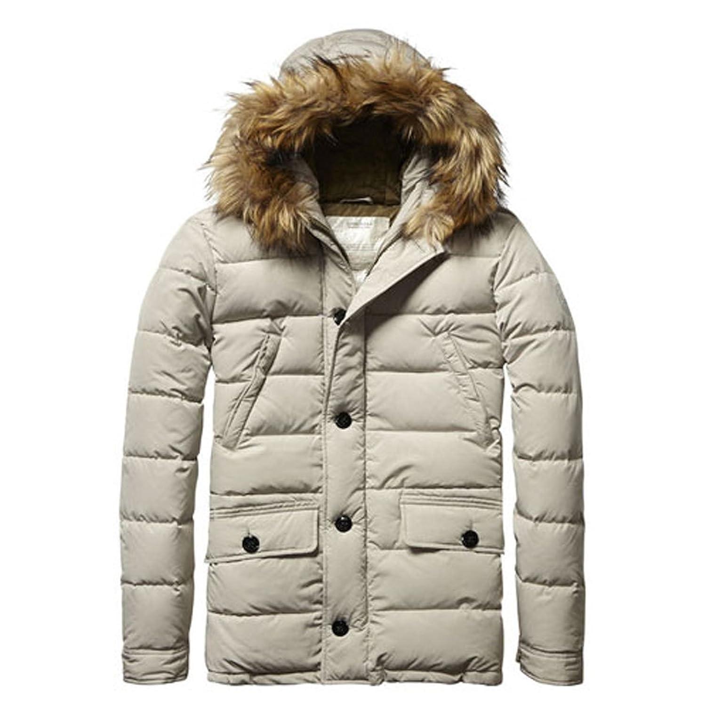 [スコッチアンドソーダ] SCOTCH&SODA メンズ アウタージャケット Long hooded jacket with fake fur at hood edge 10014 08 (コード:4073103938) B07DGTNK74  S