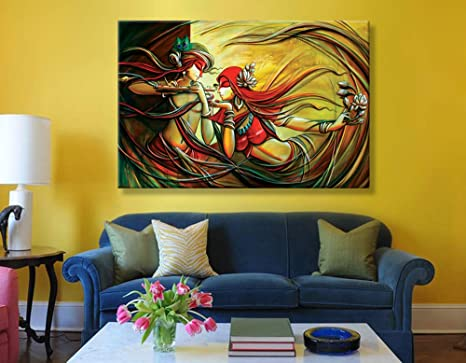 Home Decor Modern Art Uv Print Radha Krishna Painting Wall Canvas