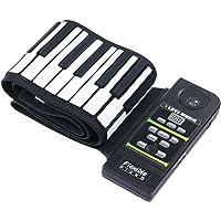 Roll Up Piano 88 teclas Midi Out Grabación de música Pedales de silicona Flexible Midi Hand Roll Teclado electrónico