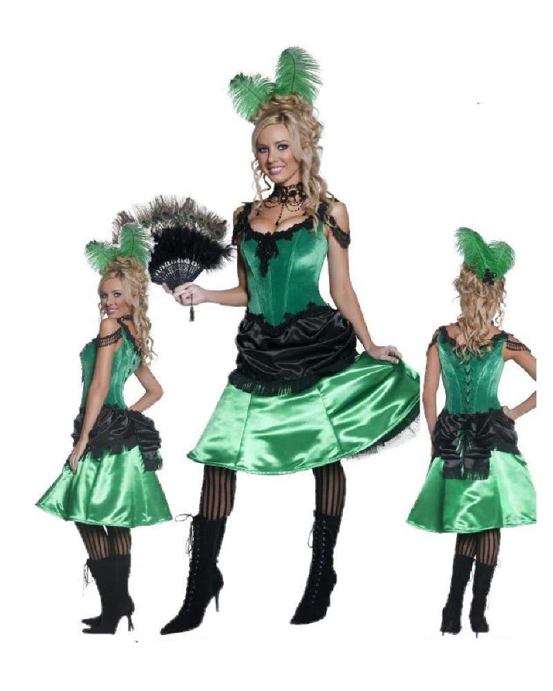 Kostüm Karneval Damen Kleid Western Saloon    09916, mehrfarbig L f12a04