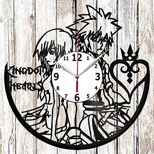 Kingdom Hearts Anime Vinel Record Wall Clock Home Art Decor Original Gift Unique Design Handmade Vinyl Clock Black Exclusive Clock Fan Art