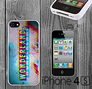 Trippy Wonderland Colorful Custom made Case/Cover/skin FOR iPhone 4/4s - White - Rubber Case ( Ship From CA)