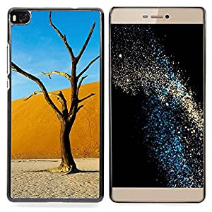 GIFT CHOICE / Teléfono Estuche protector Duro Cáscara Funda Cubierta Caso / Hard Case for Huawei Ascend P8 (Not for P8 Lite) // Plant Nature Forrest Flower 6 //