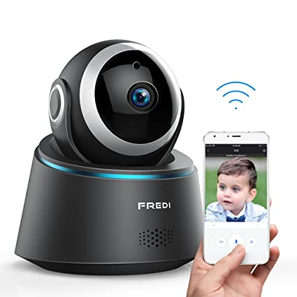 FREDI Smart Surveillance Camera Baby Monitor 720P WIFI IP Security Nanny Camera