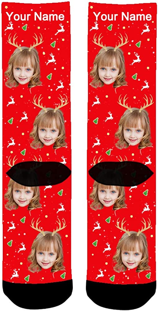 regalo di compleanno Calze personalizzate con foto ABIsedrin Calze personalizzate uomo Natale Calze natalizie Calze stampate per donna