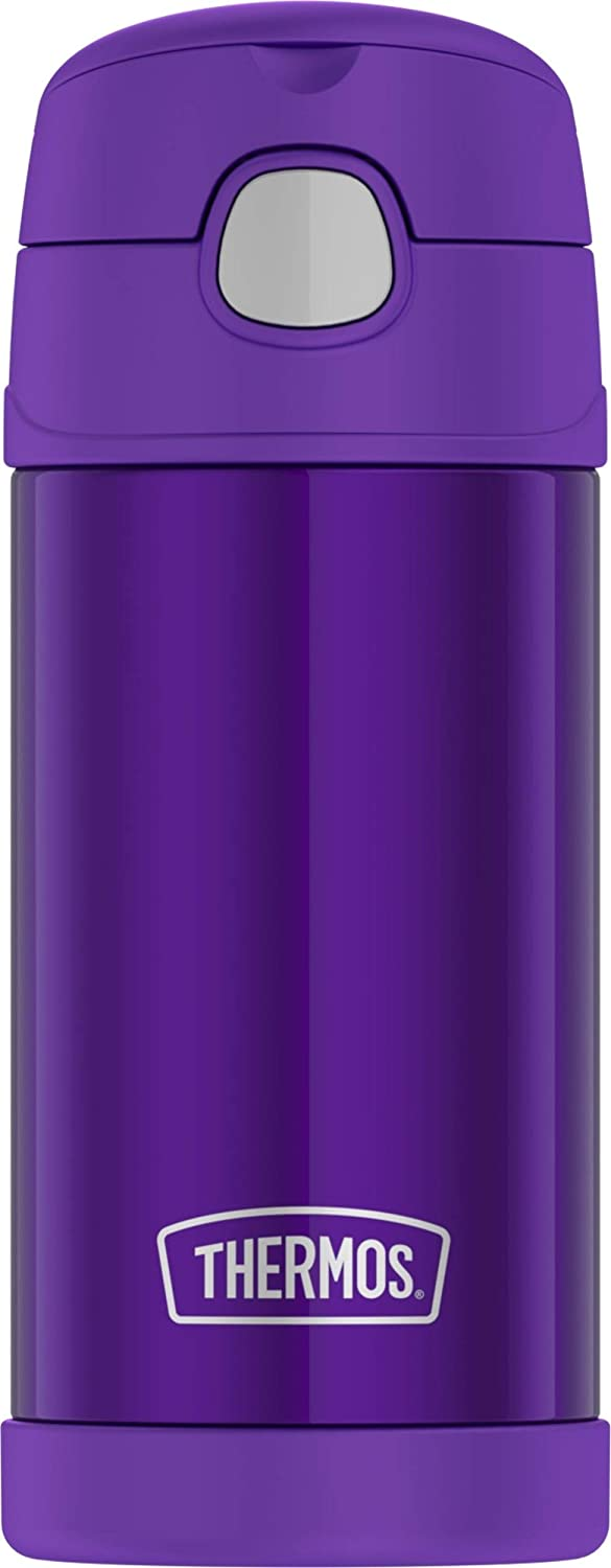 Thermos F4016VI6 12 Ounce Stainless Steel FUNtainer Bottle,Violet