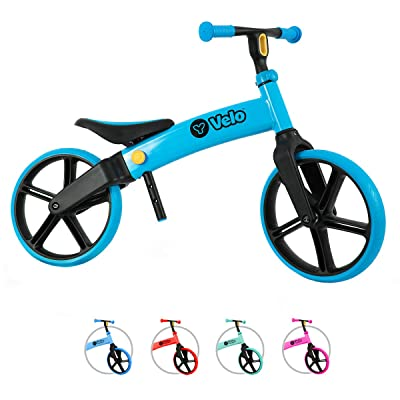 Yvolution Y Velo Senior Balance Bike for Kids | No Pedals Training Bicycle Ages 3 to 5 Years Old (Blue): Sports & Outdoors