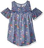 Beautees Big Girls' Cold Shoulder Printed Top, Royal Blue, Medium
