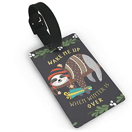 Amazon.com   Mars Sight Stylish Sloth Travel ID Label for Bag with ... 51d27fa6d2df2
