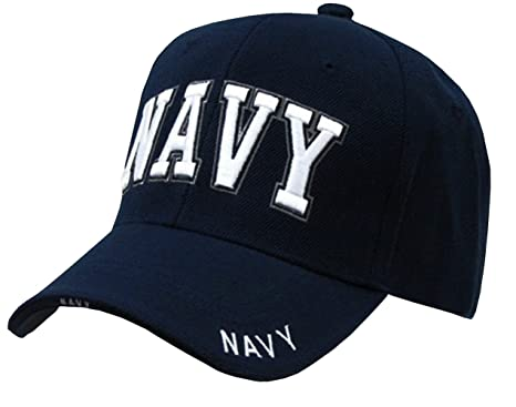 us navy text embroidered military baseball cap hat by rapid dominance blue wool ebay womens