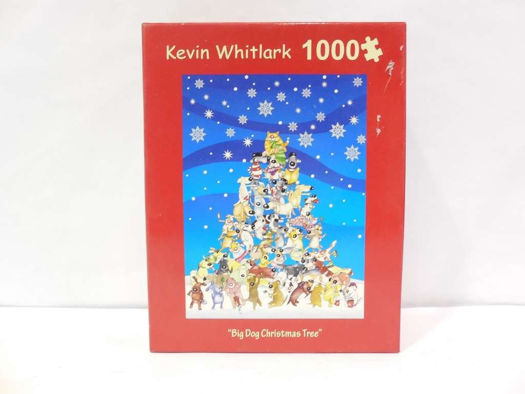 """Big Dog Christmas Tree"" 1000 Pc. Puzzle kevin whitlark"