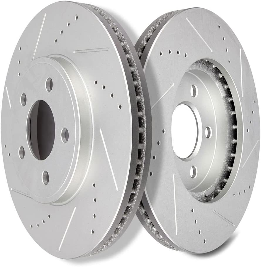 Front Drilled Brake Rotors Ceramic Pads 2003-2011 Lincoln Town Car Grand Marquis
