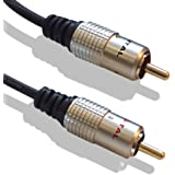 Cable Mountain 1m High Quality Gold Plated 2x Phono to 2x Phono RCA Cable