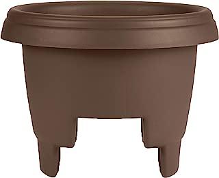 "product image for Bloem Deck Balcony Rail Planter 12"" Chocolate (477125-1001)"