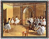 Pure Country Weavers ''The Dance Foyer at the Opera on the rue Le Peletier Blanket'' Tapestry Throw