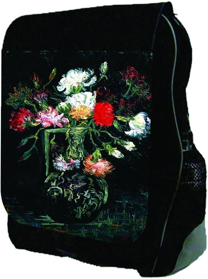 Van Gogh-Vase of Red and White Carnations TM School Backpack