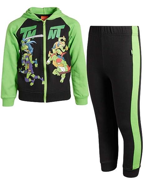 Thomas The Train Ninja Turtles and Blaze Nickelodeon Boys 2-Piece Fleece Hoodie Jogger Set Toddler//Little Boys